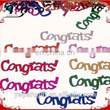 multicolored congrats confetti