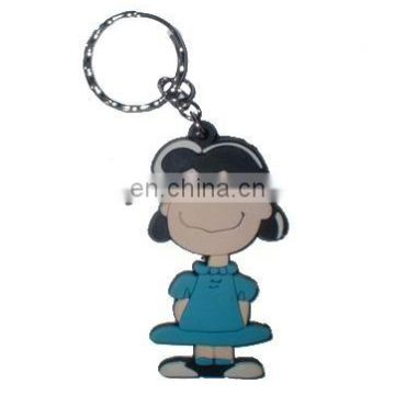 Cartoon PVC Soft Rubber Personalised Keychains