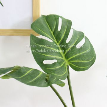 High Quality Artificial Plant Photography Props Real Touch Latex Turtle Leaf