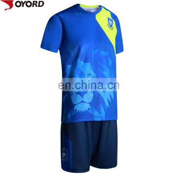 2017 100% Polyester custom soccer jersey with sublimation printed football shirts