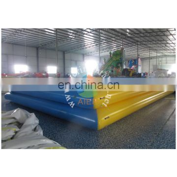 Water balls playing at inflatable pool, inflatable 2 layers pool, double layers water pool