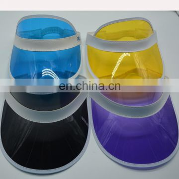 2018 newest summer wholesale plastic sun visor