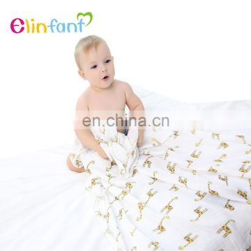 100%Cotton Material and Knitted Technics jersey knit baby swaddle blanket