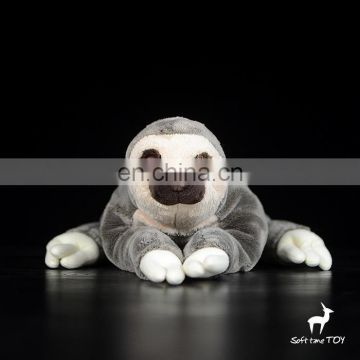 Realistic soft stuffed animal plush sloth custom toy