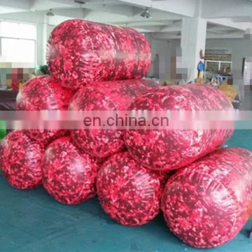 Red Color Inflatable Oil Barrel Paintball Bunker For Game
