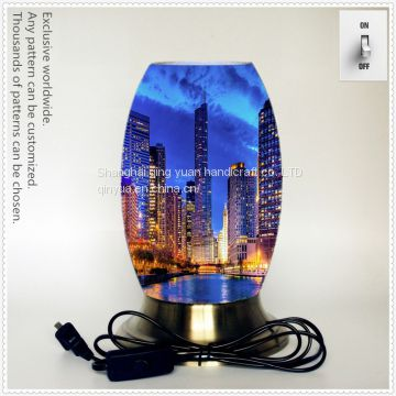 Qin Yuan art desk lamp, creative lamp, decorative table lamp, LED table lamp, American cultural series lamp (Dusa004)