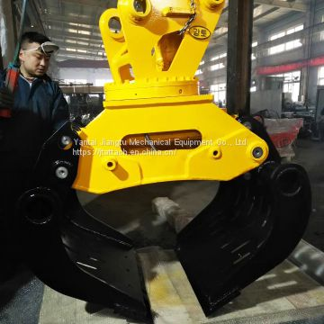 High Strength Hydraulic Grapple for Excavators