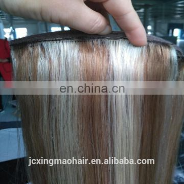 Natural Looking Factory Price Unprocessed 6A Grade Virgin Brazilian Blonde Human Hair Ponytail