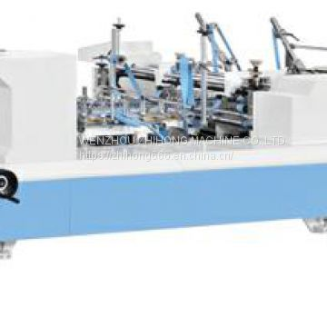 All-in-one Muti-functional new product Crash Lock Bottom Straight line send French fries box Folder Gluer Machinery