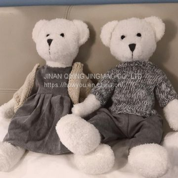 Teddy Bear Plush Toy With Pattern Skirt And Trousers from China Manufacture