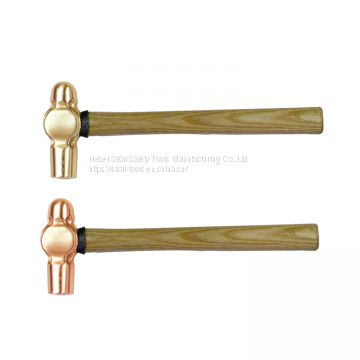 explison-proof non sparking tools ball peen hammer with wooden handle