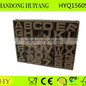 unfinished hot sale fashion MDF wooden alphabet