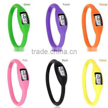 2017 Hot Sell Glow in Dark Silicone Bracelet Watch / silicone wrist watch