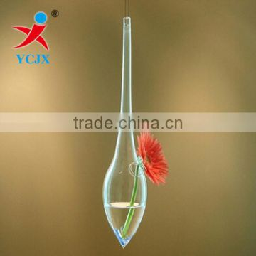MOUTH BLOWN HANGING WATER-DROP GLASS VASE FOR SALE