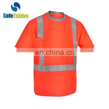 hot selling high quality new design reflective customised soft tshirt