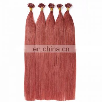 Mixed brown and blonde color I tip double drawn top hair fashion extensions