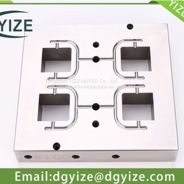 CNC mould processing center-inserts with CNC machining in mould part manufacturer yize