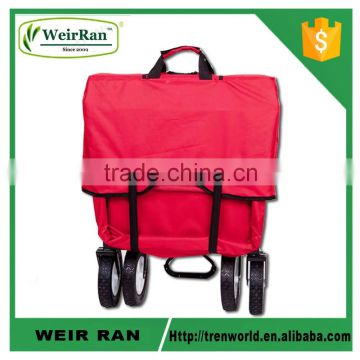 (73007) 600D cloth in 150Lbs trolley foldable huge storage four wheel metal garden wagon