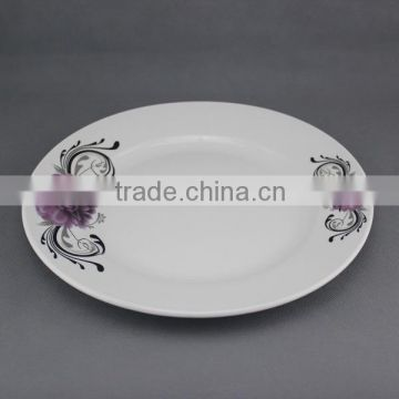 ceramic dinner plate with part decalpocelain wedding charger plates with good qualtiy and cheap price