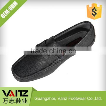 Customized OEM ODM PU Leather Slip-on Rubber Loafers Casual Shoes