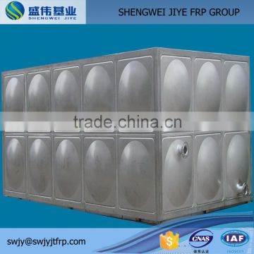 smc water tank with elevated steel fiberglass frp sectional