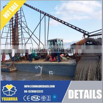 8inch Drilling suction dredger for lake sand mining