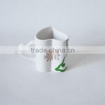 heart shape ceramic couple mug