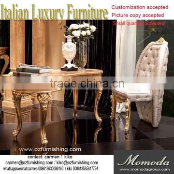 Momoda Luxury Fancy Gold Baroque Italy Antique Office Furniture Study Room  Desk And Chair Solid Wood