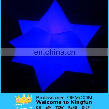 Customized colorful haing new year deractive led star