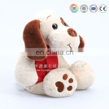 Soft Fabric Cute Dog Plush Toy, mascot stuffed dog