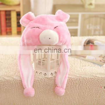 Lovely plush pig hat for sale