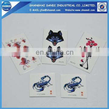 Promotional custom cheap temporary hand tattoo sticker