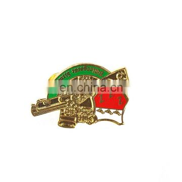 Wholesale promotional cheap make custom logo 3d metal pin badge