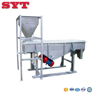 Linear vibrating screen used for soya bean,wheat bran,rice bran