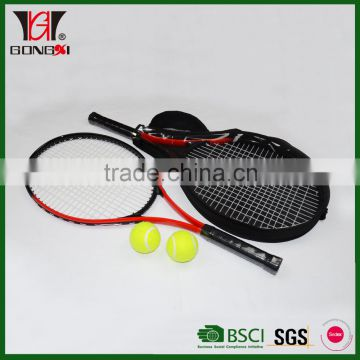 "27"" tennis racket wholesale price with custom printed tennis balls"