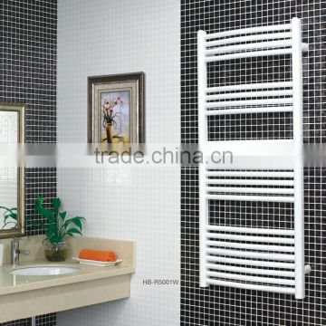 HB-R50 series bathroom hot water heated steel chromed ladder towel racks warmer towe rails radiator