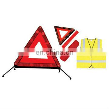 Road Safety Kits made of one piece vest and one triangle