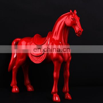 Red Color Customized Size Horse With Long Tail