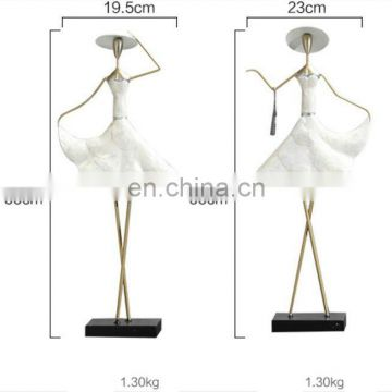 factory new product resin modern girl figure for hanging earring and necklace