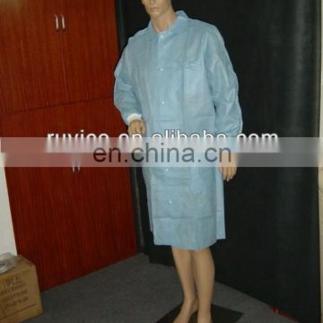 Cheap Disposable Nonwoven Lab Coat without pocket