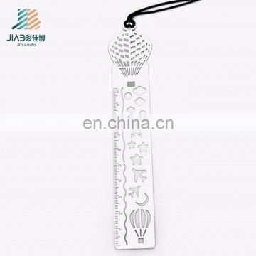 jiabo custom metal souvenir ruler bookmark for books
