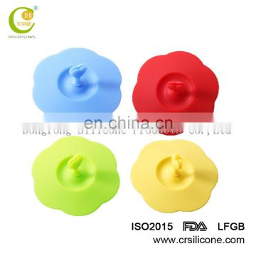 Eco-friendly safe fruit design rubber silicone cup lids cover