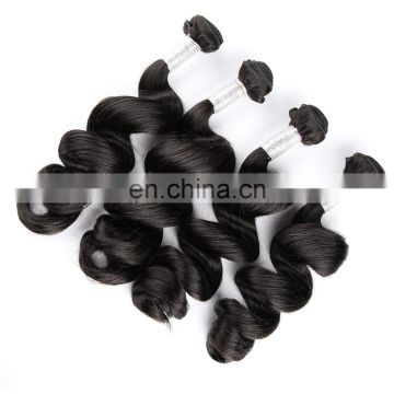 The professional manufacture brazilian virgin loose wave 1B color 1b hair extension