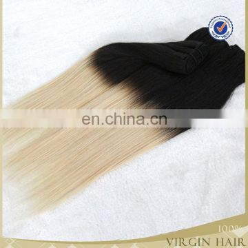 Factory price new arrival sexy two tone ombre colored virgin brazilian hair weave bundles