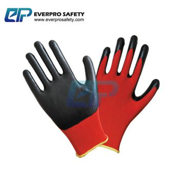 Oil and Gas resistant 13G Polyester Liner Nitrile Dipped Mechanic Work Gloves with EN388 4121X