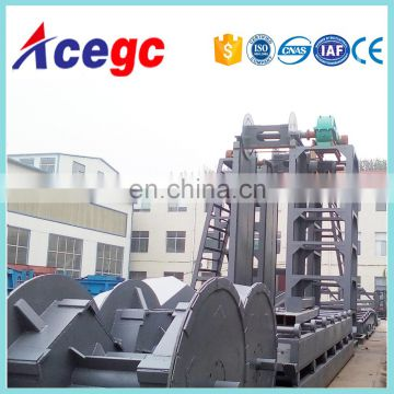 Sand collecting/gold separating dredging depth3-15m,capacity 100-500m3/h river gold / placer dredger machine
