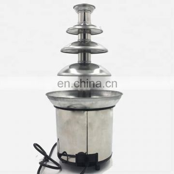 4 Layer 4-Tier Family Chocolate Fuente Machine Electric Chocolate Fountain Chocolate Heating Waterfall Machine