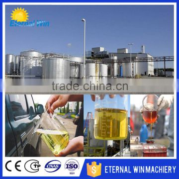 Good quality continuous waste plastic/tyre pyrolysis oil plant used cooking  oil making biodiesel equipment