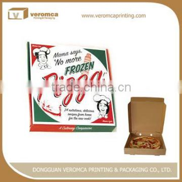 Professional fast food take away pizza box