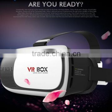 2016 Hot Head Mount VR Box 2nd Generation 3D Glasses for 4''-6'' inches Android and iOS phone